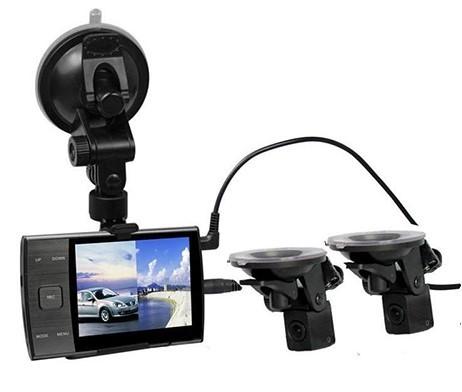 АВТО Видеорегистратор ДВР S3000 A 2 камеры-присоски