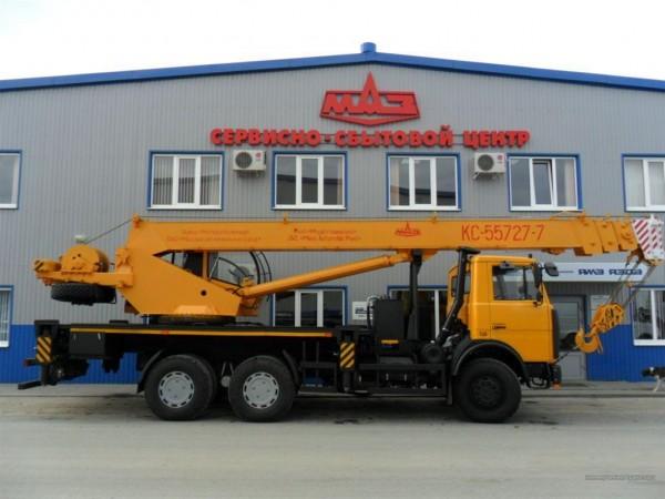 Автокран КС-55727-7-12, г/п 25 тонн, четырехсекционная стрела 28 метров.