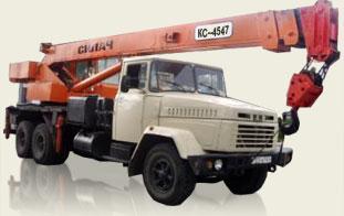 Автокран (Силач, КРАЗ 250) грузоподьемность 21,3т, вылет стрелы 22м