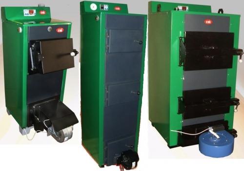 Автоматические твердотопливные котлы (автоподдув, контроль температуры). КОТВ-20Т, КОТВ-30Т, КОТВ-50Т.
