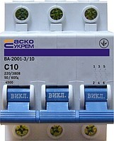 Автоматический выкл. УкрЕМ ВА-2001 3р 1А-2А