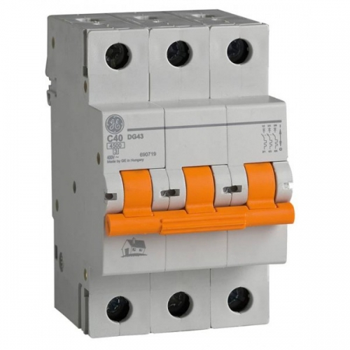 Автоматический выключатель 3P 63A 6кА AEG GE