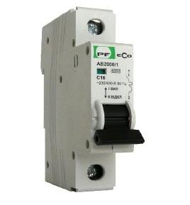 Автоматический выключатель АВ 2000 ЭКО С 1х16А