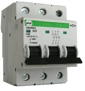 Автоматический выключатель АВ 2000 ЭКО С 3х25А