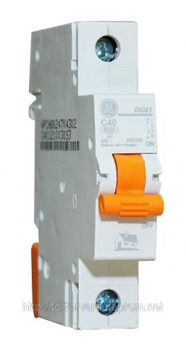 Автоматический выключатель DMS 1P 40A 6kA AEG GE