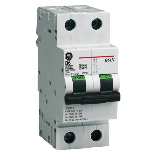 Автоматический выключатель DMS 2P 10A 6кА AEG GE