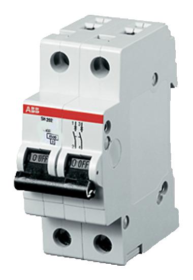 Автоматический выключатель (двухполюсный 10 А) SH202-C10