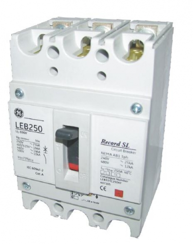 Автоматический выключатель Record SL 80A 25kA AEG