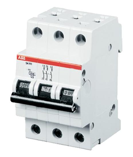 Автоматический выключатель (трехполюсный 10 А) SH203-C10