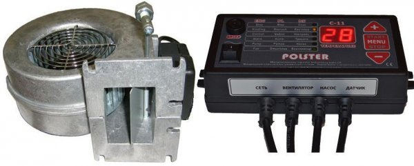Фото  1 Автоматика Polster C-11 и вентилятор WPA-120 комплект для твердотопливного котла (аналог Atos) 1843791