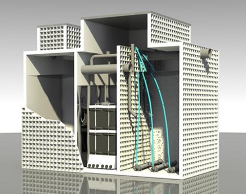 Автономная канализация AS-VARIOcomp 40N для гостиниц и жилых комплексов, производительностью 6.0 м3/сут.