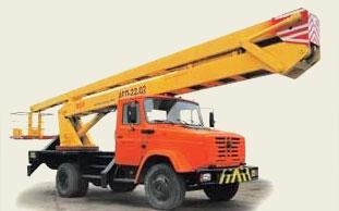 Автовышка ЗИЛ-130, сота подъема: 22 м (± 0,5 м), грузоподъемность люльки: не более 250 кг