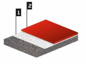 BauLit 200. Двухкомпонентный цветной состав на основе эпоксидной смолы. Укладывается толщиной до 3,0 мм.