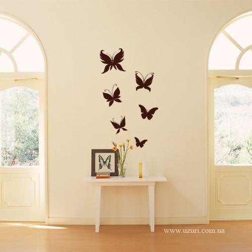 Бабочки: Большая-150х145мм, маленькая-80х60мм.