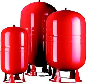 Бак расширительный CAL-PRO 80 л, 6 атм. 6 bar круглый, красный, D 3/4, ZILMET