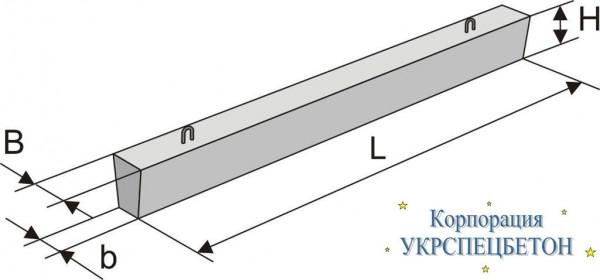 Балка бетонная фундаментная ФБ 6-22