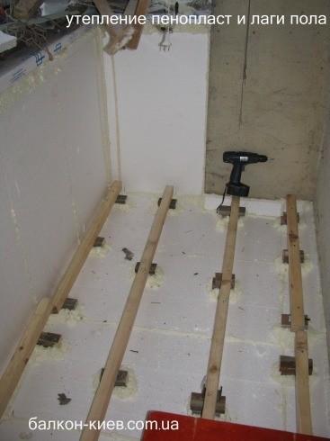 Утеплення підлоги балкона пенопластом.кіев . ціна 75 грн. за.