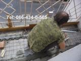 Заливка цементного пола на балконе. Стяжка на балконе. Киев. Только работа.