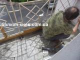 Устройство армировки на полу балкона. Только работа. Киев.