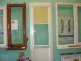 """Балконная дверь """"Deceuninck&quo t; 700х2100 поворотно-откидная, цвет белая, низ сендвич, стек-т с энерго."""