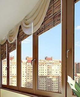 Балконные рамы из клееного бруса