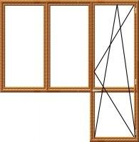 """Балконный блок """"Виконда-Термо& quot;-5 камерный золотой дуб. Энергосбережение."""