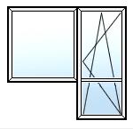 Балконный блок Salamander 2100Х700, 1200X1400, 1- камерный стеклопакет, фурнитура Maco