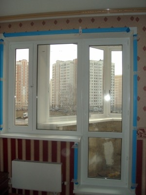 балконный блок стандартных размеров, профиль (KBE)