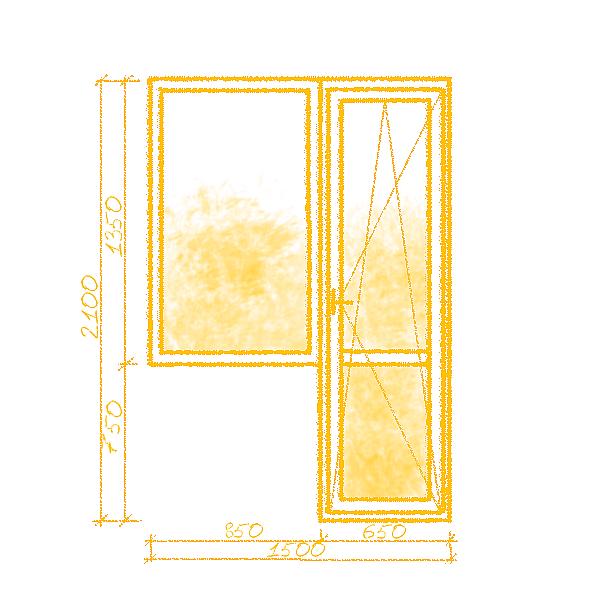 Фото  1 Балконный блок в немецком профиле класса А 1444788