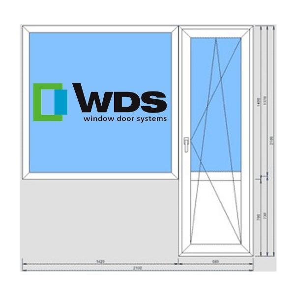 Балконный блок WDS 400 700*2100, 1300*1400