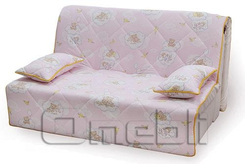 Бамбино Аккордеон диван Бязь розовая A33039