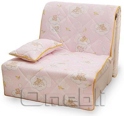 Бамбино Аккордеон кресло Бязь розовая A33047