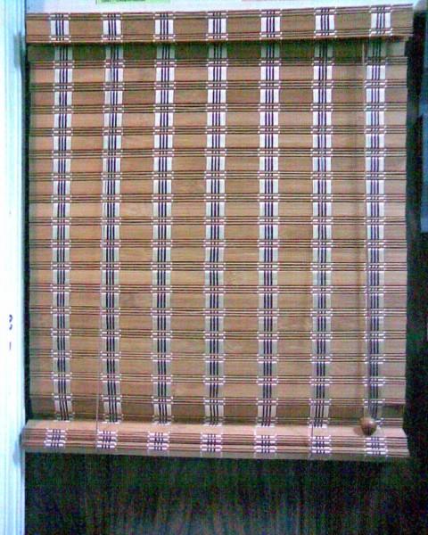 Бамбукові рулонні штори .