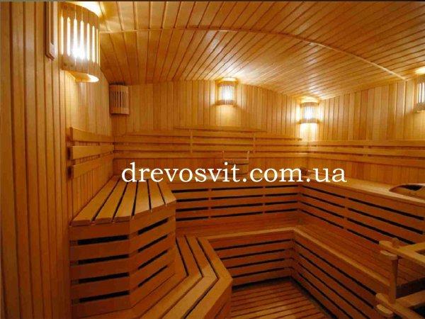 Фото  1 Вагонка деревяна вільха для лазні та сауни. Сухий, шліфований матеріал не потребує додаткової обробки. 1866348