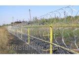 Фото  1 Барьер спиральный 450х3, на 3 скобы, (в бухте 10мп) Україна двойное оцинкование 2190086