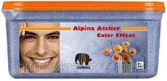 Бархатисто-мерцающая лазурь Alpina Atelier Color Effect.