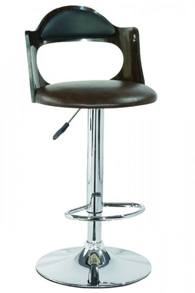 Барные стулья для кухни HY 161 (Дерево венге кремовый кожзам, дерево венге темно-коричневый кожзам)