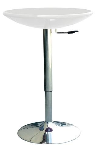 Стол для бара Амира, регулируемый, пластик белый