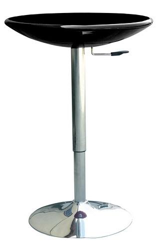 Барный пластиковый стол Амира, высокий цвет черный