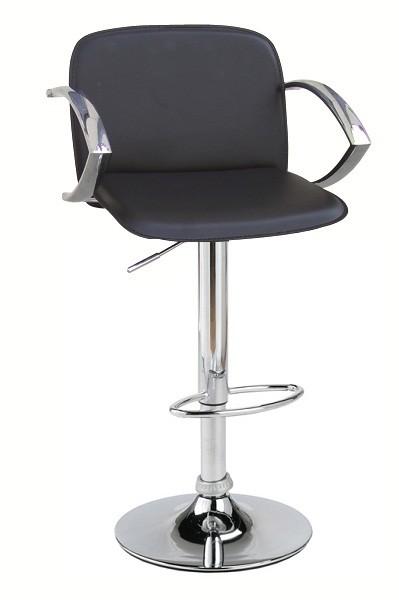 Барный стул Люкс черный, белый, бежевый, высокий барный стул для стоек Люкс