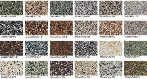 BAUMIT Штукатурка мозаичная (Австрия), доступная в 24 цветах, 30 кг