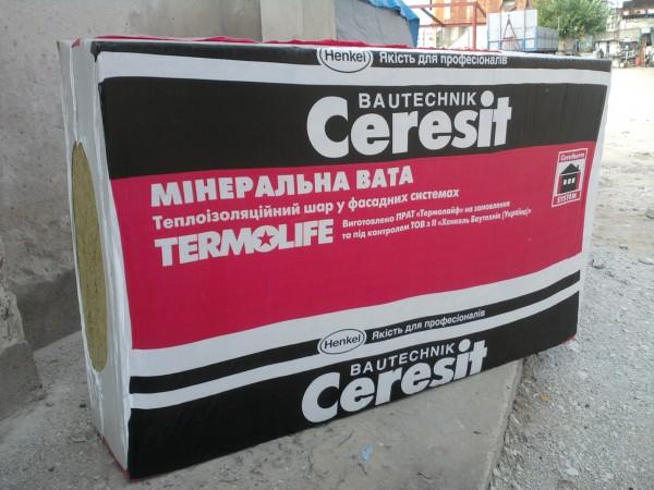 Базальтова вата Ceresit товщина 50мм , плотність 145 кг/м3