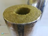 Фото  5 Цилиндры базальтовые фольгированные, D 57мм, толщина 30мм для трубной изоляции. t применения 650°С. 405652