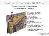 Фото  1 Фасадна мінеральна вата 105кг / м куб 600 * 1200 мм 50 мм 2139289