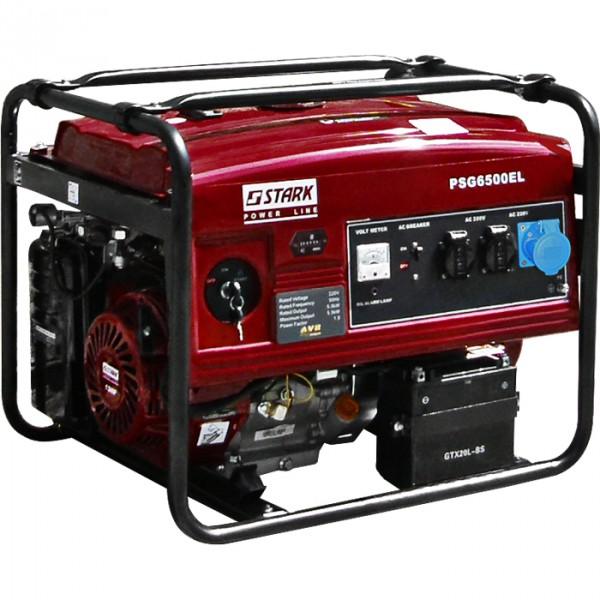 Бензиновый генератор Stark PSG6500EL-PROFI Акция 20л бензина в подарок заправка масла.