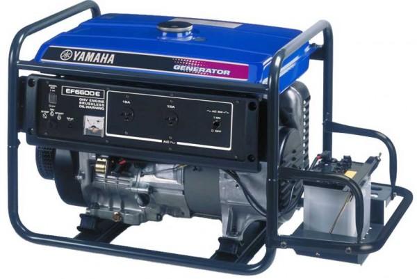 Бензиновый генератор Yamaha EF6600E Акция 20л бензина в подарок заправка масла.