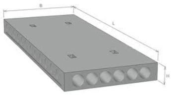 Бетонные плиты ПК 63-15-8, ширина 1,8 м