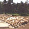 Бетонные работы. Установка опалубки, вязка арматурного каркаса, укладка бетона из миксера.