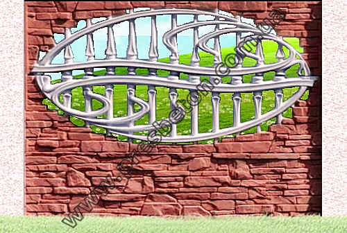 Бетонный забор.