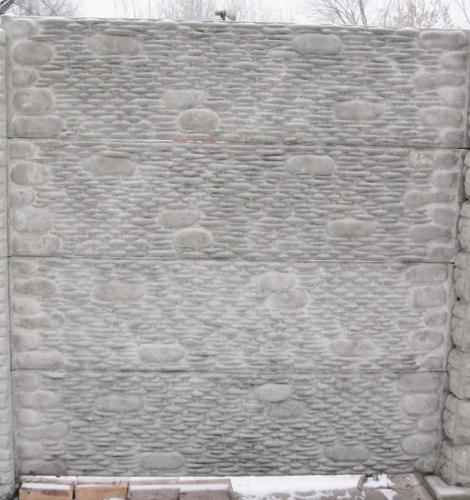 Бетонный (железобетонный) забор. Еврозабор. №20
